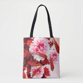 Jitaku Peony And Goldfish Art Shopping Bag