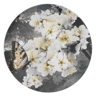 Jitaku Plum Blossom Melamine Plate