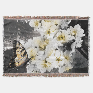 Jitaku Plum Blossom Throw Blanket