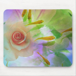 Jitaku Rose And Goldfish Art Mousepad