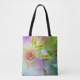 Jitaku Rose And Goldfish Art Shopping Bag