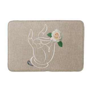 Jitaku  Smell The Roses Bath Mat