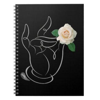 Jitaku Smell The Roses Black Cover Notebook