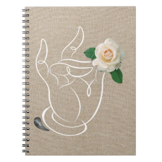 Jitaku Smell The Roses Linen Cover Notebook