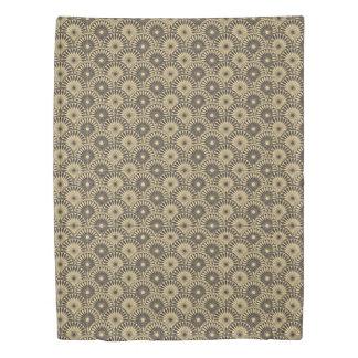 Jitaku Yellow Brown Floral Pattern Duvet Cover