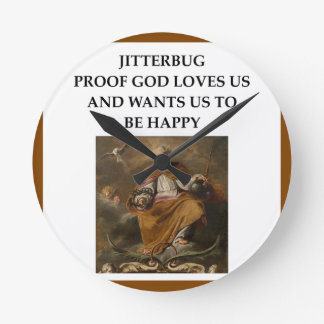 jitterbug round clock