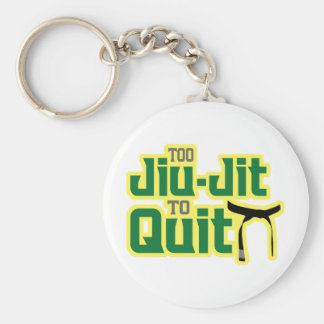 Jiu-Jitsu Basic Round Button Keychain