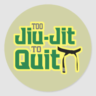 Jiu-Jitsu Classic Round Sticker