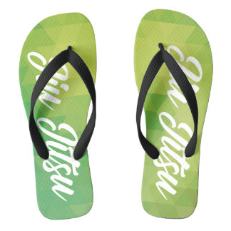 Jiu Jitsu Flip Flop - Green Flip Flops