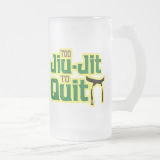 Jiu-Jitsu Frosted Glass Beer Mug
