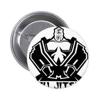 Jiu Jitsu - The Fighter Prepares 2 Inch Round Button