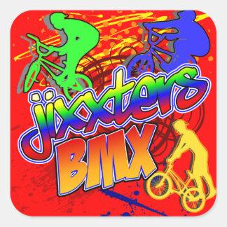 Jixxter BMX Square Sticker
