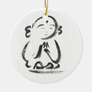 Jizo the Monk Ceramic Ornament