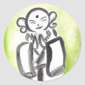 Jizo the Monk in Green Stickers