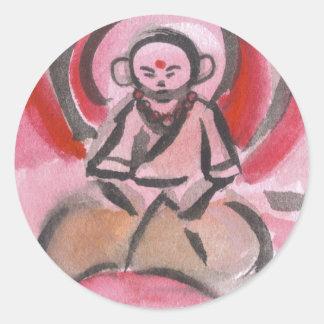Jizo the Monk Meditates Stickers