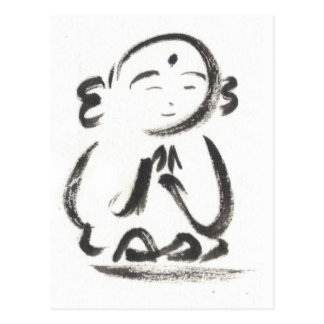 Jizo the Monk Postcard in White