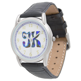 JK  letters  colourful initials  watch
