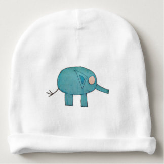 JMCdesign Blue Elephant Baby Cotton Beanie Baby Beanie