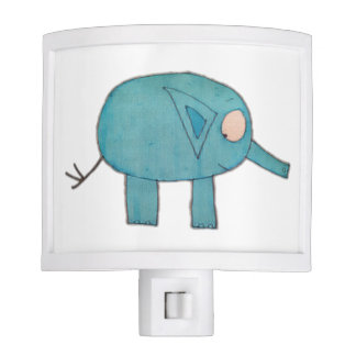 JMCdesign Blue Elephant Night Light