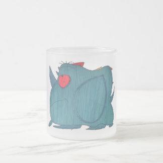 JMCdesign Blue Rhino Frosted Mug