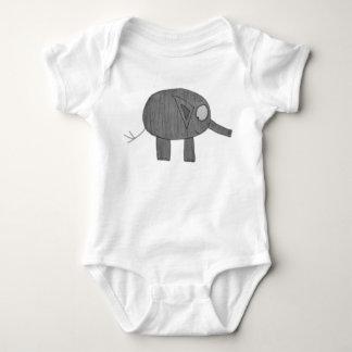 JMCdesign Gray Elephant Baby Baby Bodysuit