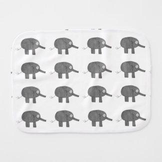 JMCdesign gray elephant Burp Cloth