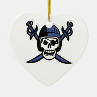 Jmfa Pirates Under 8 Ceramic Heart Ornament