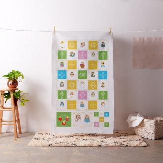 +JMJ+  Cute Saint Baby Quilt Squares Fabric