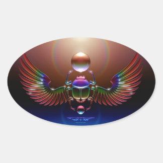 JMR - Crystal Scarab Oval Sticker
