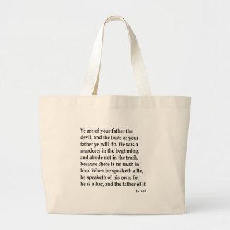 Jn. 8:44,w large tote bag