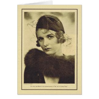 Joan Bennett 1932 vintage portrait Card