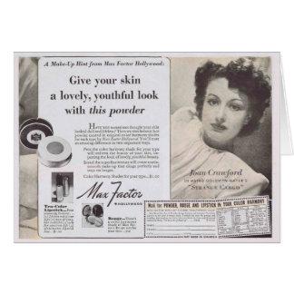 Joan Crawford Face Powder Ad Card