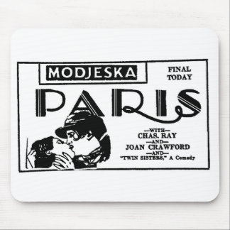 Joan Crawford PARIS 1926 Mouse Pad
