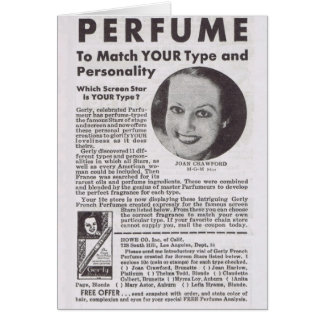 JOAN CRAWFORD Perfume advertisement Card