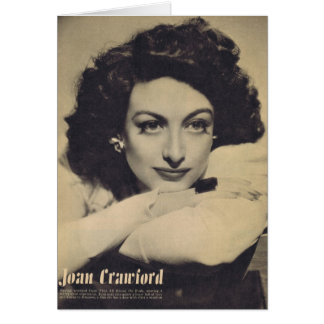 Joan Crawford White Sweater Rotogravure Photo Card