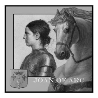 Joan of Arc and her war horse Poster