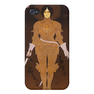 Joan of Arc Art Nouveau iPhone 4 Cases