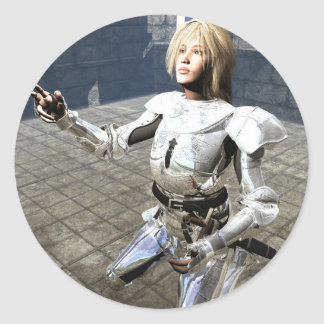 Joan of Arc Classic Round Sticker