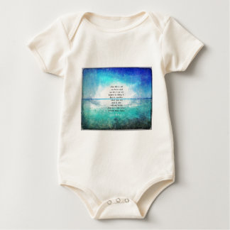 Joan of Arc inspirational quote Baby Bodysuit