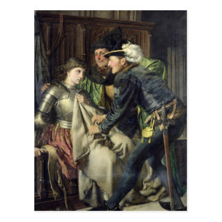 Joan of Arc  Insulted in Prison, 1866 Postcard