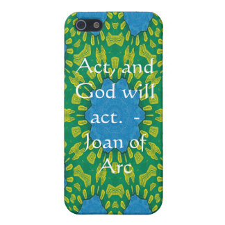 Joan of Arc Quote With Amazing Design Case For The iPhone 5