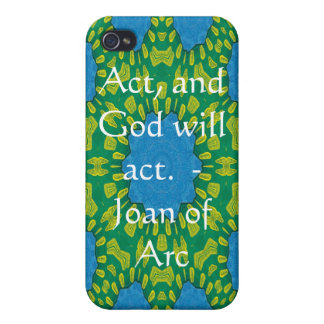 Joan of Arc Quote With Amazing Design iPhone 4/4S Case