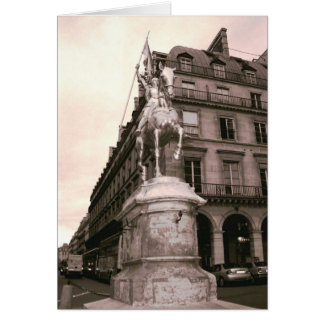 Joan of Arc Statue Notecard