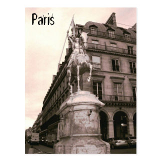 Joan of Arc Statue Paris Postcard