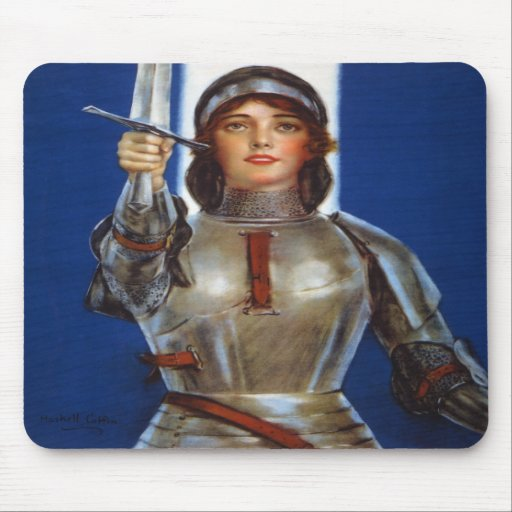 Joan of Arc World War I Buy War Saving Stamps Mouse Pad