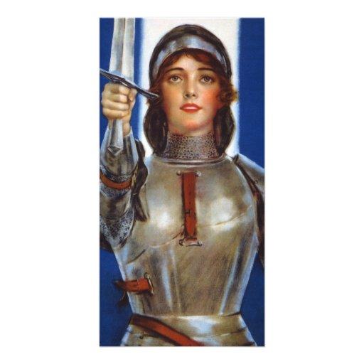 Joan of Arc World War I Buy War Saving Stamps Photo Card