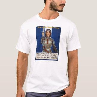 Joan of Arc World War I Buy War Saving Stamps T-Shirt