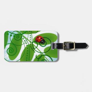 joaninha - ladybird luggage tag