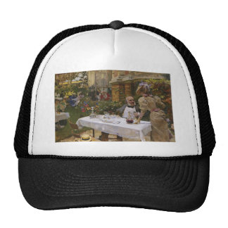 Joaquín Sorolla- Cafe in Paris Trucker Hats