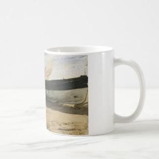Joaquin Sorolla - Fishing boats on the beach Coffee Mug